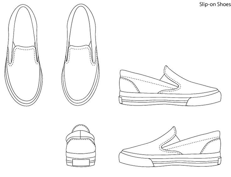Shoe template art of the jets for High heel shoe design template